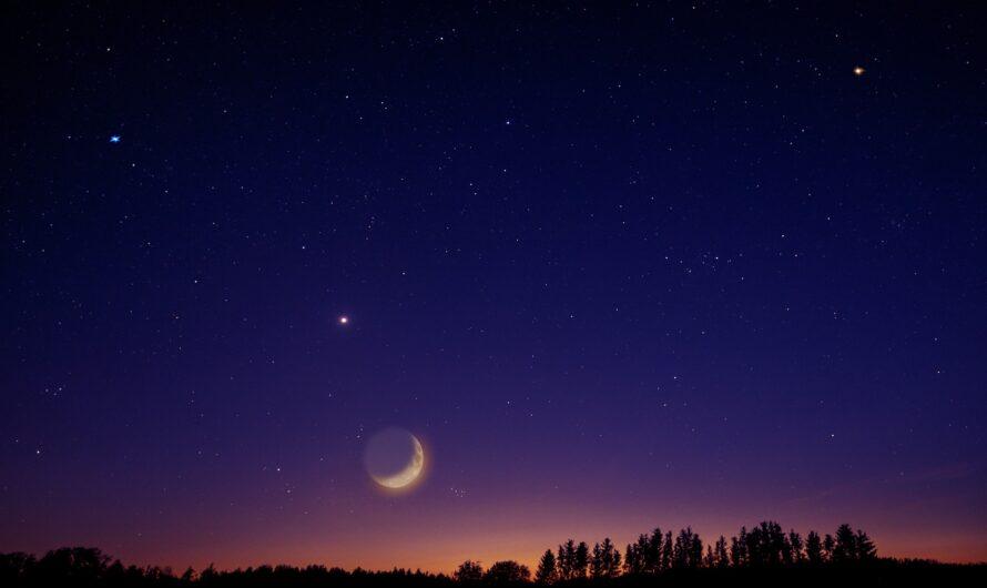 Phases de la Lune natale. Nouvelle lune avant la naissance