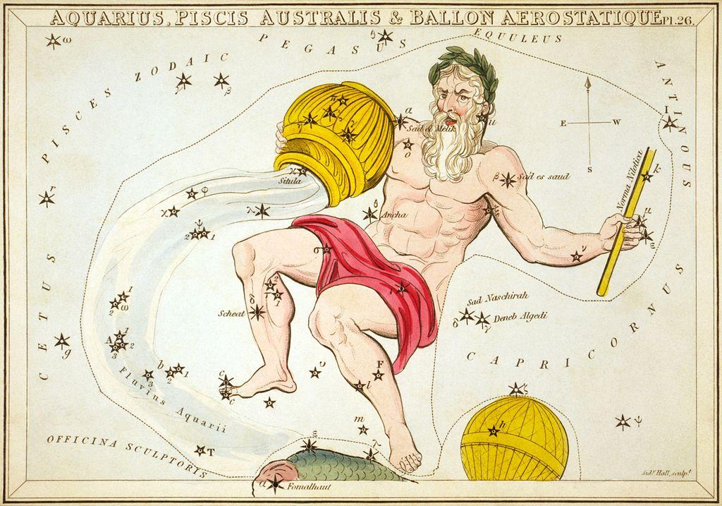 Le signe du Verseau dans les constellations